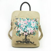 . Canvas backpack with oriental paiting