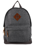 Anekaant Basic Unisex Cotton Polyester Grey Backpack with laptop sleeve