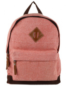 Anekaant Basic Unisex Cotton Polyester Red Backpack with laptop sleeve