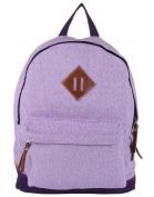 Anekaant Basic Unisex Cotton Polyester Purple Backpack with laptop sleeve