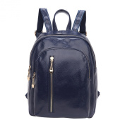 Shijinshi Women's Leather Pure Colour Backpack