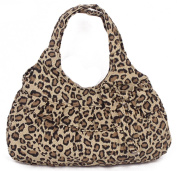 Fortuning's JDS® New canvas leopard printed with bowtie handbag