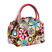Fortuning's JDS® Women's unique casual canvas floral printed tote handbag