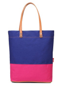 Fortuning's JDS® Simple style contrast colour canvas tote handbag