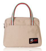 Fortuning's JDS® Women's classic casual canvas tote bag daily purse handbag, beige