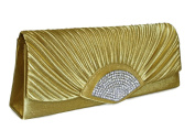 #1064 Women's Clutch Evening Bag Women's Shoulder Bag Handbag Partytasche Rhinestone Gold