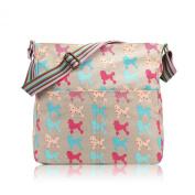 Poodle Dog Canvas Crossbody Messenger Bag