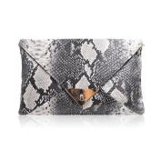 Millya Women's Snake Printed Pu Leather Envelope Design Mini Small Clutch Bag Messenger Shoulder Handbag Tote Bag Purse