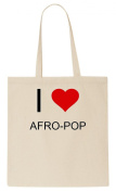 I Love AFRO-POP Tote Bag