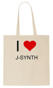 I Love J-SYNTH Tote Bag