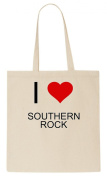 I Love SOUTHERN ROCK Tote Bag