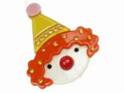 Glitz4Girlz Clown Resin Hair Clip - Orange