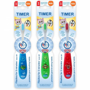 B-Brite Club Cutie Flashing Timer Manual Toothbrush for Boys - Pack of 3