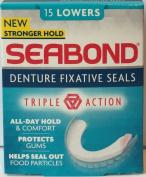 Seabond Denture Fixature Seals 15 Lowers x 6 Packs