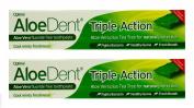 Multibuy 2x AloeDent® Aloe Vera Triple Action Toothpaste Fluoride Free 100ml