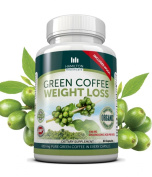 ORGANIC Green Coffee Bean Extract | 1250mg | 1 MONTH SUPPLY | 60 Capsules | Chlorogenic Acid ANTI-OXIDANTS | Recommended by Dr Oz for Faster WEIGHT LOSS | Added Caffeine for EXTRA ENERGY & Alertness | 100% Organic High Quality Green Coffee Bean Extract