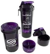 SmartShake Shaker 800ml with two screw-in compartments. Jay Cutler Edition