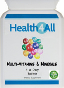 Multi-Vitamins & Minerals One a day Tablets | 100% RDA | BEST VALUE | Free UK Delivery