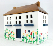 Dolls House Miniature Nursery Furniture Painted Wooden Dolls House Toy Chest