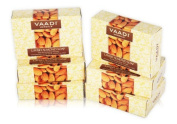 Almond Soap (Almond Oil Bar Soap) with Honey and Aloe Vera Extracts - Handmade Herbal Soap (Aromatherapy) with 100% Pure Essential Oils - ALL Natural - Best Natural Skin Moisturiser - Each 80mls - Pack of 6 (470mls) - Vaadi Herbals (Almond Oil ..