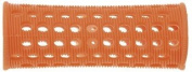 PLASTIC HAIR ROLLERS ORANGE Pk10 x 23mm + FREE PINS