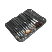 12 Pcs Black Professional Makeup Brush Set with Wood Handles Make up Artist Cosmetics Beauty by Kurtzy TM