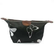 Black & White BUTTERFLY Design Print Lightweight Holiday / Weekend WASH BAG / Make-up Bag / Compact Toilet Bag