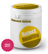 Select Healthy Flaxseed Oil 1000mg - 180 Capsules - UK Sourced - Omega 3 & 6