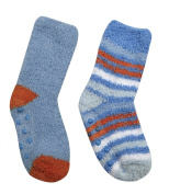 TICK TOCK Baby Boys Cosy Polyester Socks Multi Colour Striped With Grippers
