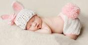 Pink Rabbit, Newborn Baby Girl/Boy Crochet Knit Costume Photo Photography Prop Hats Outfits