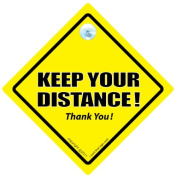 Keep Your Distance Car Sign, Keep Your Distance, Baby On Board Sign Style, Baby on Board, Decal, Bumper Sticker, Back Off, Tailgating, Tailgater, Anti Tailgater Car Sign, Car Warning Sign