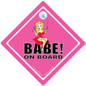 Babe On Board Cra Sign, Babe On Board Car Sign, Pink, Baby on Board Car Sign, Funny Car Sign,Baby on Board, Babe, Babe Sign, Bumper Sticker, Decal, Car Sign, Car Sticker