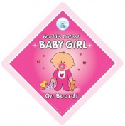 World's Cutest Baby Girl On Board, World's Cutest Baby Girl, Worlds Cutest Baby Girl, Car Sign, Baby On Board Sign, Baby on Board, Decal, Bumper Sticker, Baby Sign, Baby Car Sign, Novelty Car Sign