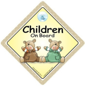 Children On Board Car Sign, Baby On Board Car sign, Child on Board, Grandchild On Board, Decal, Car Sticker, Bumper Sticker, Baby Car Sign, Brown & Green Bears, Baby on Board Sign, FREE UK Postage, Baby On Board Car Sign, Kid's On Board Car Sign, Bumpe ..