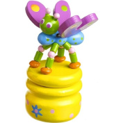 Wooden Tooth Fairy Pot - Yellow Butterfly