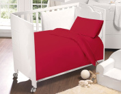 Love2Sleep COTTON RICH COT BED DUVET COVER AND PILLOWCASES SET 120 X 150 CM RED