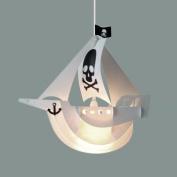 Cool Children's White Pirate Ship Bedroom Ceiling Pendant Light Shade