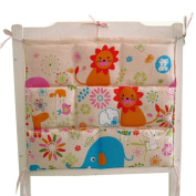 Cute Baby Crib Hanging Nappy Bag Storage Bag Baby Room Decor,Wonderful Zoo