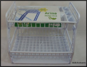 High Quality 2 Tier Plastic Dish Drainer Cutlery Plates Tray Rack White New