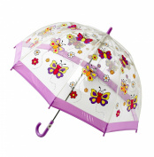 Bugzz Childrens Childrens Clear PVC Umbrella Butterfly - BUBY