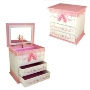 Girls Musical Jewellery Box with Ballet Shoes Design by Mele & Co.