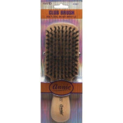 Annie Natural Boar Bristle Hard Club Brush #2061 - 2 pieces, Reinforced boar bristles, reinforced bristles, wavy hair, straight hair, long hair, short hair, no more tangles, detangler