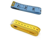 """BuyHere 150cm 60"""" Measuring Ruler, Blue and Yellow"""