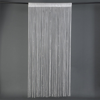 Beaded String Curtain Crystal Beads Curtain Tassel Screen Panel ...