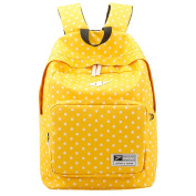 Lightweight Casual Daypack Oxford Fabric Polka Dot Backpack 14