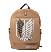Attack on Titan Survey Corps Eren Anime Backpack Shoulder Bag Schoolbag