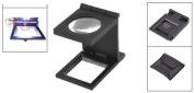 Komingo Sold Folding Staff Pocket Metal 10x Magnifying Glass Magnifiers Microscope LED Light Jewellery Identifying Loupe Magnifier