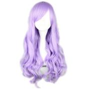 COSPLAZA Cosplay Wigs 70cm light Purple Long Wavy Curly Japanese Harajuku lolita Anime Show Party Hair