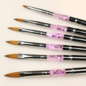 Xxshop Marble Handle Nail Brush Set Gel Acrylic Powder Nail Brush