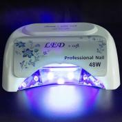 Galaxyhydro™ 48w LED Nail Dryer UV Lamp Acrylic Nail Dryer White